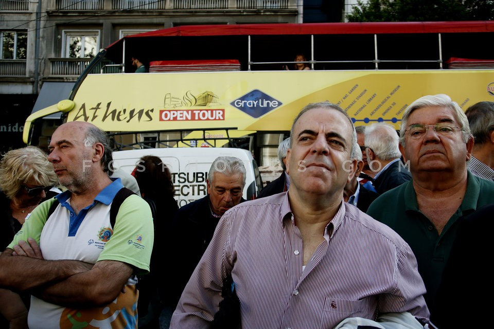 Rally against pension cuts / Συγκέντρωση διαμαρτυρίας συνταξιούχων