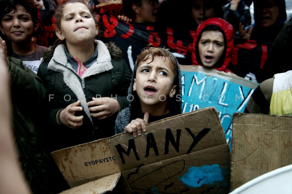 Syrian refugees protest at the German embassy / Διαμαρτυρία προσφύγων στην Γερμανική πρεσβεία