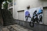 Kallidromiou street in the neighborhood of Exarchia in central Athens / Η Καλλιδρομίου στα Εξάρχεια