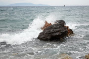 Wave on a rock, Athens, Greece, May 2017 / Κύμα σε βράχο, Λούτσα Αττικής, Μάιος 2017