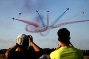 Red Arrows of the Royal Air Force perform during the 6th Athens Flying Week, on Sunday September 17, 2017  / 6η Athens Flying Week στην Τανάγρα την Κυριακή 17 Σεπτεμβρίου 2017