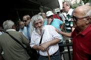 Pensioners take part at a protest rally, held outside the Labour Ministry, in Athens, against new pension cuts, on Tuesday, September 6, 2016  / Συγκέντρωση διαμαρτυρίας πραγματοποίησαν έξω από το υπουργείο Εργασίας συνταξιούχοι οι οποίοι διαμαρτύρονται για τις περικοπές στις συντάξεις τους, Τρίτη 6 Σεπτεμβρίου 2016