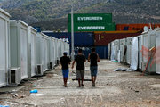 More than 3,200 refugees and migrants, from Syria, Afghanistan and Iraq, live in containers at Skaramagas, western suburb of Athens. On Friday September 2, 2016. More than 58,000 people remain stranded in Greece.  /  Περισσότεροι απο 3,200 μετανάστες και πρόσφυγες απο την Συρία το Αφγανιστάν και το Ιράκ ζούν σε εμπορευματοκιβώτια στο κέντρο φιλοξενίας προσφύγων στον Σκαραμαγκά. Παρασκευή 2 Σεπτεμβρίου 2016