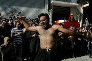 A Shiite Muslim flagellates himself, taking part in the ritual of Ashura, at Piraeus port near athens on October 12, 2016. The day of Ashura is a day of mourning for the martyrdom of Husayn ibn Ali, grandson of Muhammad, who was killed at the battle of Karbala / Σιίτες μουσουλμάνοι γιορτάζουν την ημέρα της Ασούρα στον Πειραιά την Τετάρτη 12 Οκτωβρίου 2016