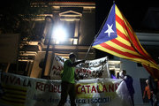 Leftist groups marched in central Athens in solidarity to the people of Catalonia the march ended outside the Spanish embassy in Athens, on October 3rd, 2017. /  Πορεία- συγκέντρωση στην Ισπανική πρεσβεία, Αθήνα 3 Οκτωβρίου 2017