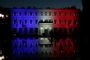 The Athens town hall painted at the colors of the French flag, after the terrorist attack in Nice. Projectors in the colors blue, white and red form the French flag over the city hall building . In this way, Athens participates in the global mourning for the victims of the attack. On July 15, 2016  / Με τα χρώματα της γαλλικής σημαίας βάφτηκε το δημαρχείο της Αθήνας, μετά την τρομοκρατική επίθεση στη Νίκαια. Προβολείς στα χρώματα του μπλε, του άσπρου και του κόκκινου σχηματίζουν  τη γαλλική σημαία πάνω στο δημαρχείο. Με τον τρόπο αυτό, η Αθήνα συμμετέχει στο παγκόσμιο πένθος για τα θύματα της επίθεσης. Παρασκευή 15 Ιουλίου 2016