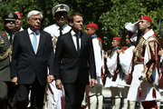 Greek President Prokopis Pavlopoulos with French President Emmanuel Macron, in Athens on September 7, 2017 / Υποδοχή του Γάλλου Προέδρου απο τον Πρόεδρο της Δημοκρατίας, Αθήνα 7 Σεπτεμβρίου 2017