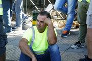 Miners from Eldorado gold mine in northern Greece demonstrate against the suspension of Eldorado's investment in Greece. In Athens, on September 21, 2017 /  Συγκέντρωση μεταλλωρύχων από τις Σκουριές στο Υπουργείο Περιβάλλοντος και πορεία στο κέντρο της Αθήνας  την Πέμπτη 21 Σεπτεμβρίου 2017