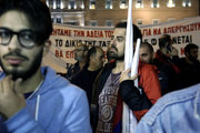 Demonstration against new austerity measures, organized by the Communist affiliated trade union, All Workers Militant Front (PAME) at Syntagma square outside the Greek Parliament, in Athens on November 9, 2017 / Συλλαλητήριο του ΠΑΜΕ στο Σύνταγμα, Πέμπτη 9 Νοεμβρίου 2017