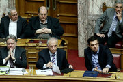 Debate at the Greek Parliament, on the social security and tax bill. In Athens, Greece, on May 8, 2016 / Συζήτηση του νέου ασφαλιστικού στην ολομέλεια της Βουλής, Κυριακή 8 Μαίου 2016