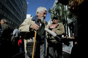 Pensioners demonstrate in central Athens protesting against further cuts in their pensions. On November 3, 3016 / Συνταξιούχοι διαδηλώνουν στο κέντρο της Αθήνας διαμαρτυρόμενοι για τις νέες περικοπές στις συντάξεις τους. Πέμπτη 3 Νοεμβρίου 2016