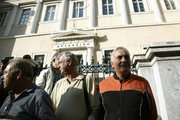 Pensioners protest against new pension cuts, outside the Counsel of State, the Supreme Administrative Court of Greece, in Athes on October 6, 2017 / Συγκέντρωση διαμαρτυρίας συνταξιούχων στο Συμβούλιο της Επικρατείας, Αθήνα 6 Οκτωβρίου 2017
