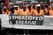 Protest march organized by the Federation of workers in municipalities in Athens on June 22, 2017 / Πορεία διαμαρτυρίας εργαζομένων στους δήμους, την Πέμπτη  22 Ιουνίου, 2017 κατά την διάρκεια 24ωρης πανελλαδικής απεργίας, με αίτημα τη μετατροπή των συμβάσεων εργασίας 6.500 συμβασιούχων σε συμβάσεις αορίστου χρόνου.