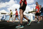 Runners cross the finish line of the 35th Athens Classic Marathon, at the Panathenaic stadium in Athens, Greece, on Sunday November 12, 2017 / Δρομείς στον τερματισμό του 35ου Αυθεντικόυ Μαραθωνίου της Αθήνας, στο Παναθηναικό στάδιο, την Κυριακή 12 Νοεμβρίου 2017