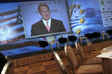 "23rd Annual Conference of the American - Hellenic Chamber of Commerce, in  Athens on December 3, 2012  / 23ο Ετήσιο συνέδριο του Ελληνοαμερικανικού Επιμελητήριου με τίτλο ""Η Μεταρρύθμιση του κράτους θεμέλιος λίθος για την ανάπτυξη"""