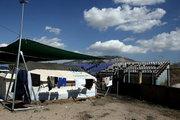UNHCR tents set in a sports facility at Helliniko Olympic complex. Almost 2,500 migrants and refugees, mainly Afghani, are housed at the former Athens airport site, and the olympic complex used in the 2004 Olympics. In total 60.736 refugees and other migrants are stranded in Greece. At Helliniko south suburb of Athens, Greece on October 5, 2016 / Περίπου 2,500 μετανάστες και πρόσφυγες οι περισσότεροι απο το Αφγανιστάν βρίσκονται στο κέντρο φιλοξενίας προσφύγων στο Ελληνικό, περισσότεροι απο 60,000 εχουν εγκλωβιστεί στην Ελλάδα. Αθήνα 5 Οκτωβρίου 2016