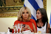 French President's wife Brigitte Macron during a state dinner at the Presidential mansion, in Athens on September 7, 2017.  / Δείπνο στο προεδρικό μέγαρο, Αθήνα 7 Σεπτεμβρίου 2017