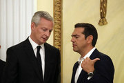 Greek PM Alexis Tsipras  (R) with French minister of Economy Bruno Le Maire, during the state dinner at the Presidential mansion, in Athens on September 7, 2017.   / Δείπνο στο προεδρικό μέγαρο, Αθήνα 7 Σεπτεμβρίου 2017