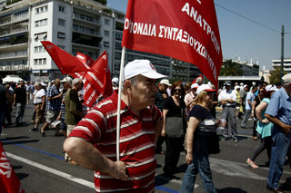 Pensioners march against austerity in Athens