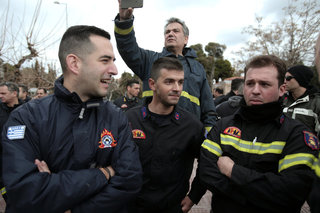 Firemen in protest march in central Athens / Συλλαλητήριο πυροσβεστών στην Αθήνα