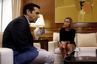 Federica Mogherini in Athens / Η Φεντερίκα Μογκερίνι στην Αθήνα