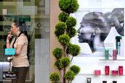 Woman smoking inside hair salon, downtown Athens, Greece, 2013 / Γυναίκα με τσιγάρο σε κομμωτήριο, Αθήνα, 2013