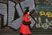 Woman in red coat, downtown Athens, Greece, 2013 / Γυναίκα με κόκκινο παλτό, Αθήνα, 2013