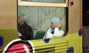Muslim woman in the subway, downtown Athens, Greece, 2013 / Γυναίκα μουσουλμάνα στον ηλεκτρικό σιδηρόδρομο, Αθήνα, 2013