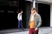 Man standing outside a clothing store in Ermou Street, Athens, Greece, 2013 / Άντρας στέκεται έξω από κατάστημα νεανικών ρούχων στην οδό Ερμού, Αθήνα, 2013