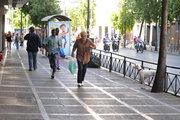 Men running in downtown Athens, Greece, 2013 / Άντρες που τρέχουν στο κέντρο της Αθήνας, 2013