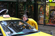 Angry man talking to taxi driver, Athens, Greece, 2013 / Νευριασμένος άνδρας μιλάει σε οδηγό ταξί, Αθήνα, 2013