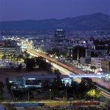 Kifissias Avenue at night, Maroussi, Athens, Greece, 2004 / Η λεωφόρος Κηφισίας στο ύψος του Ολυμπιακού σταδίου πριν την έναρξη της Ολυμπιάδας, 2004
