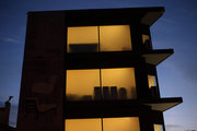 Lightened building on Vouliagmenis Avenue, Athens, Greece, 2016 / Φωτισμένο κτήριο στην λεωφόρο Βουλιαγμένης, Αθήνα, 2016