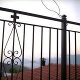Church railings, Neohori of Erissos, Kefalonia island, Greece, August 2011 / Κάγκελα εκκλησίας, Νεοχώρι Ερίσσου, Κεφαλονιά, Αύγουστος 2011
