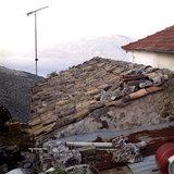 Old tiled rooftop in Neohori village in the Erissos area, Island of Kefalonia, Greece, August 2011 / Κεραμιδοσκεπή παλιού σπιτιού στο Νεοχώρι Ερίσσου, Κεφαλονιά, Αύγουστος 2011