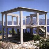 Building under construction with goats, Komitata, Erissos area, Island of Kefalonia, Greece, August 2011 / Γιαπί με κατσίκες, Κομιτάτα Ερίσσου, Κεφαλονιά, Αύγουστος 2011