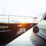 Boats at the marina of the sailing school of Palaio Faliro, Athens, 2001 / Θαλαμηγοί στην μαρίνα του Ιστιοπλοϊκού Ομίλου στο Παλαιό Φάληρο, Αθήνα, 2001