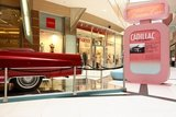 Cadillac at an exhibition in Athens, Greece 2007 / Το πίσω φτερό καμπριολέ αυτοκινήτου Cadillac της δεκαετίας του 60