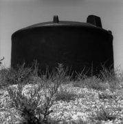 Rainwater tank beside deserted road, Erisos, ionian island of Kefalonia, Greece, August 2012 / Δεξαμενή για συγκέντρωση νερού στην άκρη έρημου δρόμου, Έρισος, Κεφαλονιά, Αύγουστος 2012
