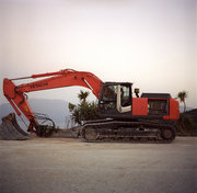 Excavator, Neohori at Erissos, Kefalonia Island, Greece, August 2012 / Εκσκαφέας, Νεοχώρι Ερίσου, Κεφαλονιά, Αύγουστος 2012