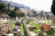 The ancient Roman Agora at Plaka old area, located under Acropolis hill , Athens, Greece, February 2017 / Η αρχαία Ρωμαϊκή Αγορά, Πλάκα, Αθήνα, Φεβρουάριος 2017
