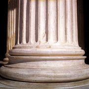 Base of a column in the entrance of the National Archaeological Museum of Athens, Greece, August 2012 / Βάση κολώνας στην είσοδο του Εθνικού Αρχαιολογικού Μουσείου Αθηνών, Αύγουστος 2012