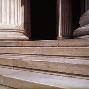 Marble steps and columns at the entrance of the National Archaeological Museum of Athens, Greece, August 2012 / Μαρμάρινα σκαλιά και κολώνες στην είσοδο του Εθνικού Αρχαιολογικού Μουσείου Αθηνών, Αύγουστος 2012