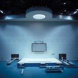 The Olympic weightlifting venue in Nikaia, Athens, Greece, July 2004 / Το Ολυμπιακό Κλειστό Γυμναστήριο Άρσης Βαρών στην Νίκαια πριν την έναρξη της Ολυμπιάδας, Ιούλιος 2004