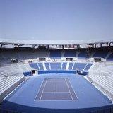 The Olympic Tennis venue in OAKA, Athens, Greece, July 2004 / Οι Ολυμπιακές εγκαταστάσεις του Τένις στο ΟΑΚΑ πριν την έναρξη της Ολυμπιάδας, Ιούλιος 2004