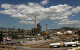 View of the refinery facilities at Elefsina on June 06, 2012/ Αποψη των διυλιστηρίων στην Ελευσίνα, Ιούνιος, 2012