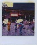 Geisha women in the pagoda entrance, Kyoto, Japan, 2006 / Γκέισες στην είσοδο παγόδας, Κιότο, Ιαπωνία, 2006
