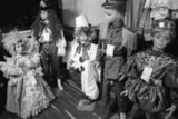 Carnival outfits on the window of a shop in the commercial district of Athens, November 1990 / Στολές καρναβαλιού στη βιτρίνα μαγαζιού στο εμπορικό κέντρο της Αθήνας, Νοέμβριος 1990