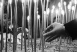 Funeral of poet Yannis Ritsos in Monemvasia, 14.11.1990 / Κηδεία του ποιητή Γιάννη Ρίτσου στη Μονεμβασιά, 14.11.1990
