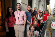 Volunteers at the offices of Red Umbrella Athens (RUA), a primary prevention and empowerment agency for sex workers in downtown Athens, September 2017 / Εθελοντές στα γραφεία του «Red Umbrella Αthens» (RUA), πρωτοβάθμιος φορέας πρόληψης και ενδυνάμωσης εργαζόμενων στο σεξ, στο κέντρο της Αθήνας, Σεπτέμβριος 2017
